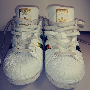 Adidas Superstar white metallic gold
